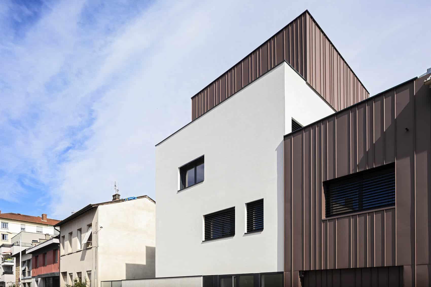 Katrimmo façade attique résidence Amarantes à Montchat rue Antoinette