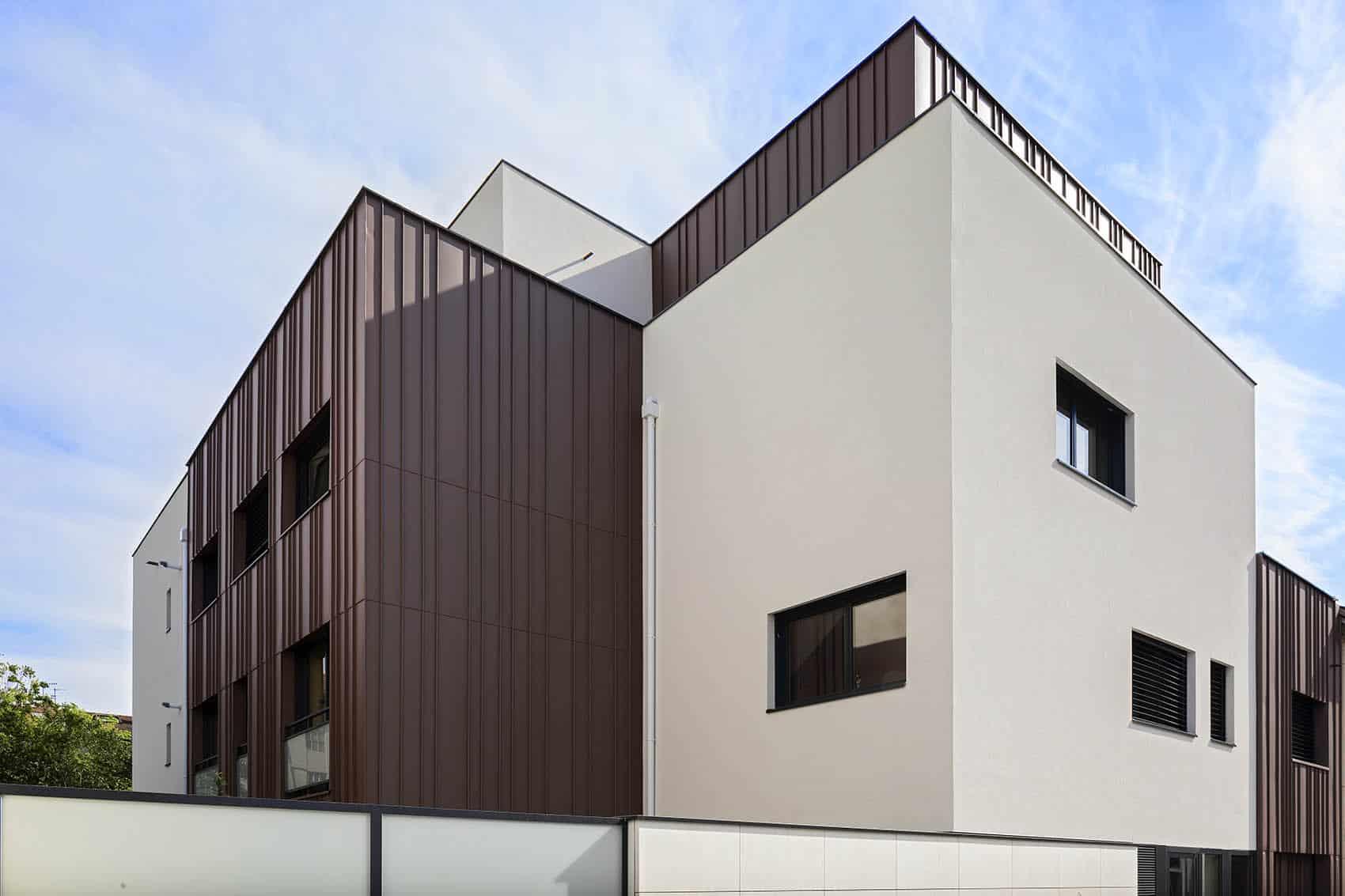 Katrimmo - programme neuf - Amarantes Montchat rue Antoinette - détail architecture façade