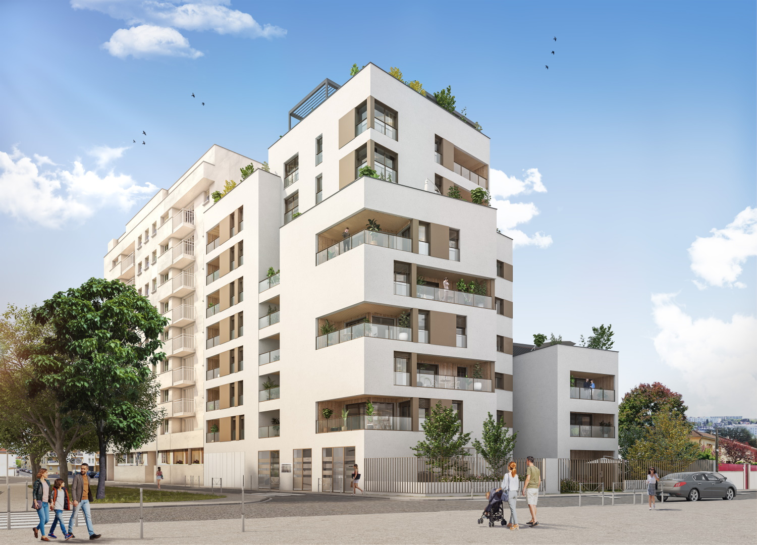 Montchat immobilier neuf KATRIMMO Grand Angle rue Viala