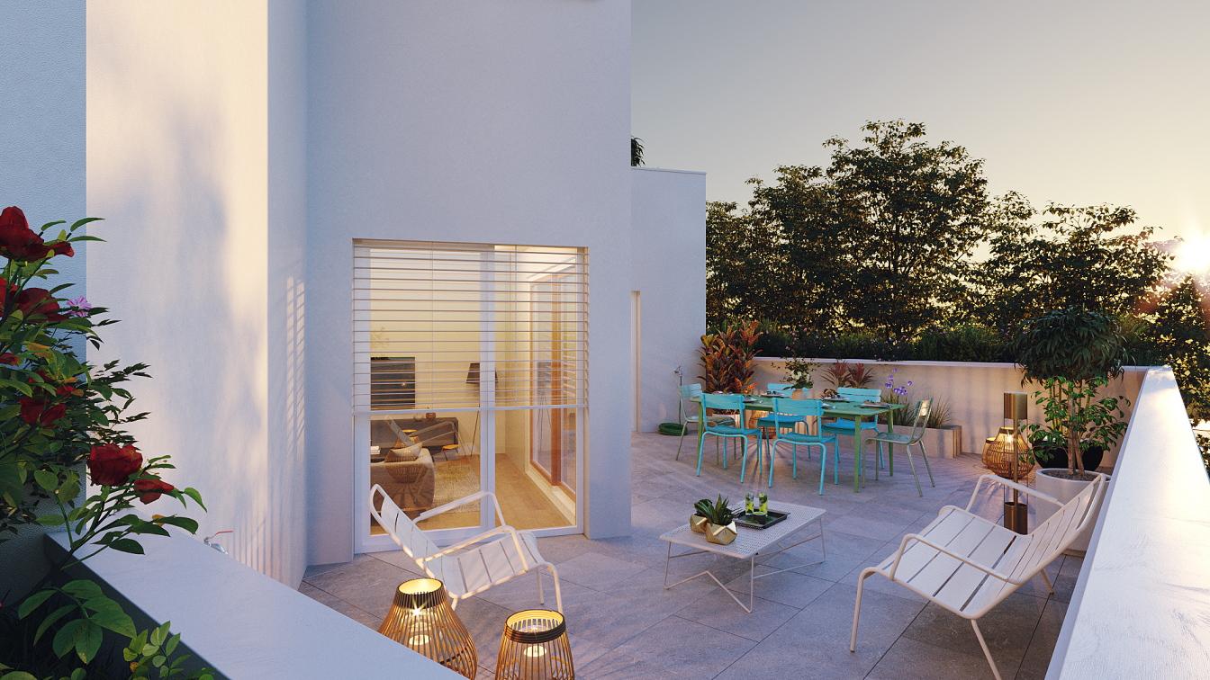 Montchat programme neuf Orkidée Katrimmo appartement